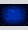 dark blue brick wall realistic background vector image