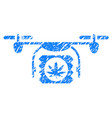 drugs drone shipment grunge icon vector image vector image