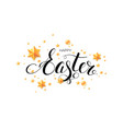 easter postcard with calligraphic inscription vector image