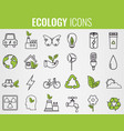 ecology icons set icons for renewable energy vector image