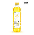 extra virgin sunflower oil canned plastic bottle vector image