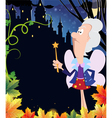 Fairy godmother near the ancient castle vector image vector image