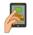 fast food order website icon vector image