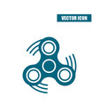 fidget spinner icon in flat style isolated on vector image