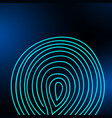 fingerprint on a blurred background vector image