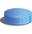 Flat cylinder vector image vector image