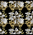 golden element on black white and gray colors vector image