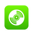 gramophone vinyl lp record icon digital green vector image