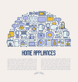 home appliances concept in half circle vector image vector image
