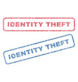 identity theft textile stamps vector image vector image