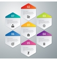 infographics of hexagons vector image