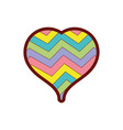 line color heart to love symbol with rainbow vector image