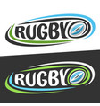 logos for rugby sport vector image