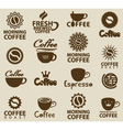 logos on coffee vector image