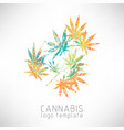 marijuana colorful symbol vector image