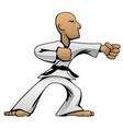 martial arts karate guy cartoon vector image vector image