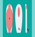 modern surfboard surfing board vector image