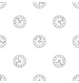 office clock pattern seamless vector image vector image