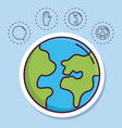 peace related icons vector image vector image