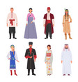 people different nationalities in ethnic clothes vector image