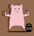 pig symbol of new year 2019 vector image vector image