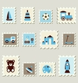 Postage stamps with toys vector image vector image