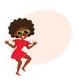 pretty black african american woman dancing at vector image vector image