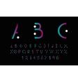 Purple alphabetic font vector image vector image