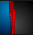 red blue and black hi-tech abstract corporate vector image vector image