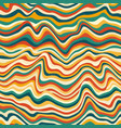 retro curved lines seamless pattern vector image vector image