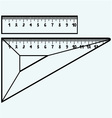 Rulers in millimeters vector image vector image