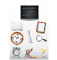 School supplies for you design vector image vector image
