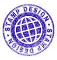 scratched textured stamp design stamp seal vector image