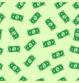 seamless background money rain flying in air vector image vector image