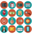 Set of flat color icons Concept for online store vector image vector image