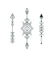 set of graphic arrows for tattoo design vector image vector image