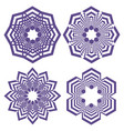 set of simple geometric design elements purple vector image vector image