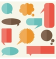Set of speech bubbles and banners in flat design vector image