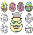 Set os easter egg vector image vector image