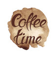 spot coffee time coffee vector image vector image