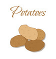 tasty veggies potatoes vector image vector image