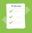 to do list icon concept all tasks are completed vector image vector image