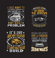 transportation quote set car quote and saying set vector image vector image