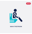 two color man at restroom icon from behavior vector image vector image