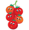 vegetable theme image 1 vector image