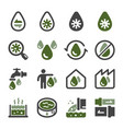 waste water icon set vector image vector image