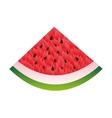 watermelon fresh fruit icon vector image