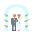 Wedding couple characters vector image vector image