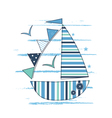 with sailing ship vector image