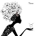 Zodiac sign taurus fashion girl vector image vector image